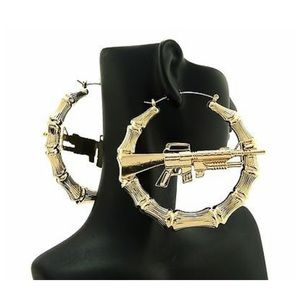 Gun hoop earrings